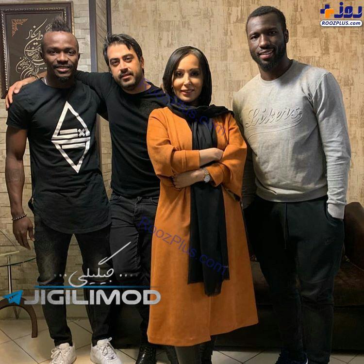 پرستو صالحی در کنار بازیکنان خارجی استقلال+عکس