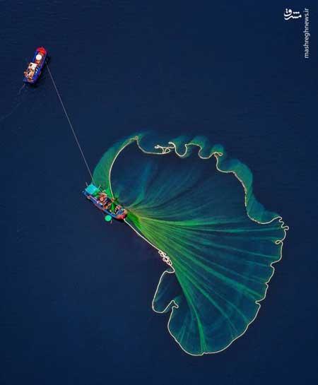 نمایی جالب از صیادان ویتنامی