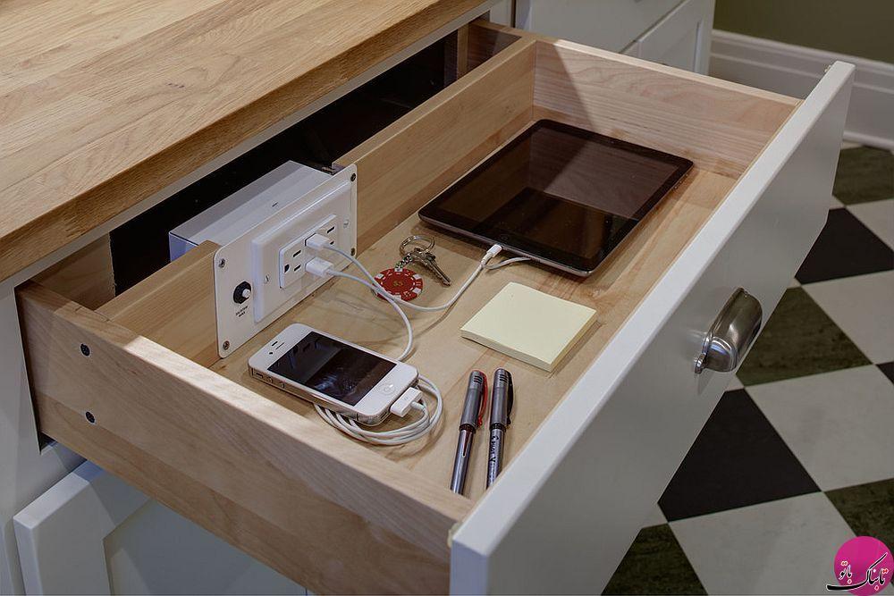 راهکارهایی برای شارژ تبلت و گوشی در آشپزخانه