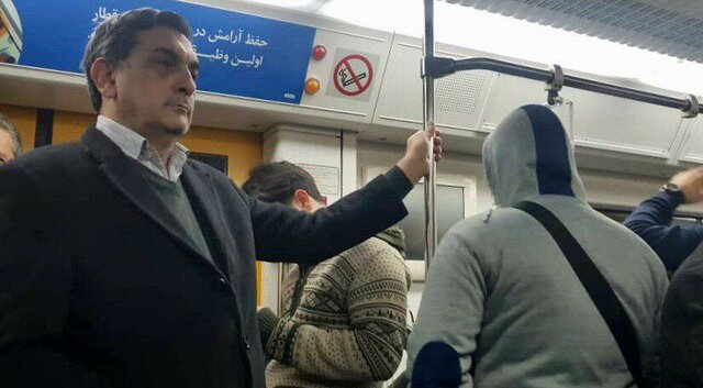حناچی با مترو و تاکسی بر سر کارش حاضر شد +عکس