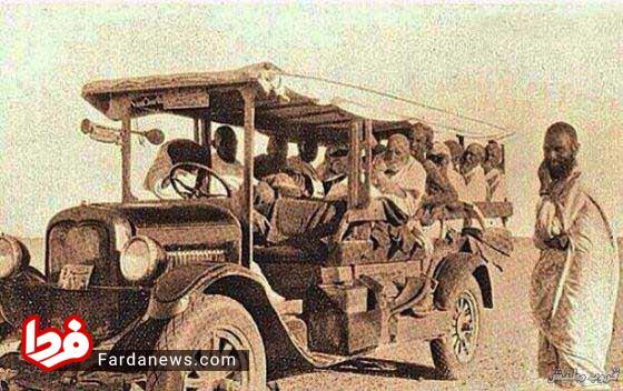 اولین اتوبوس حامل زائر بین جده و مکه +عکس