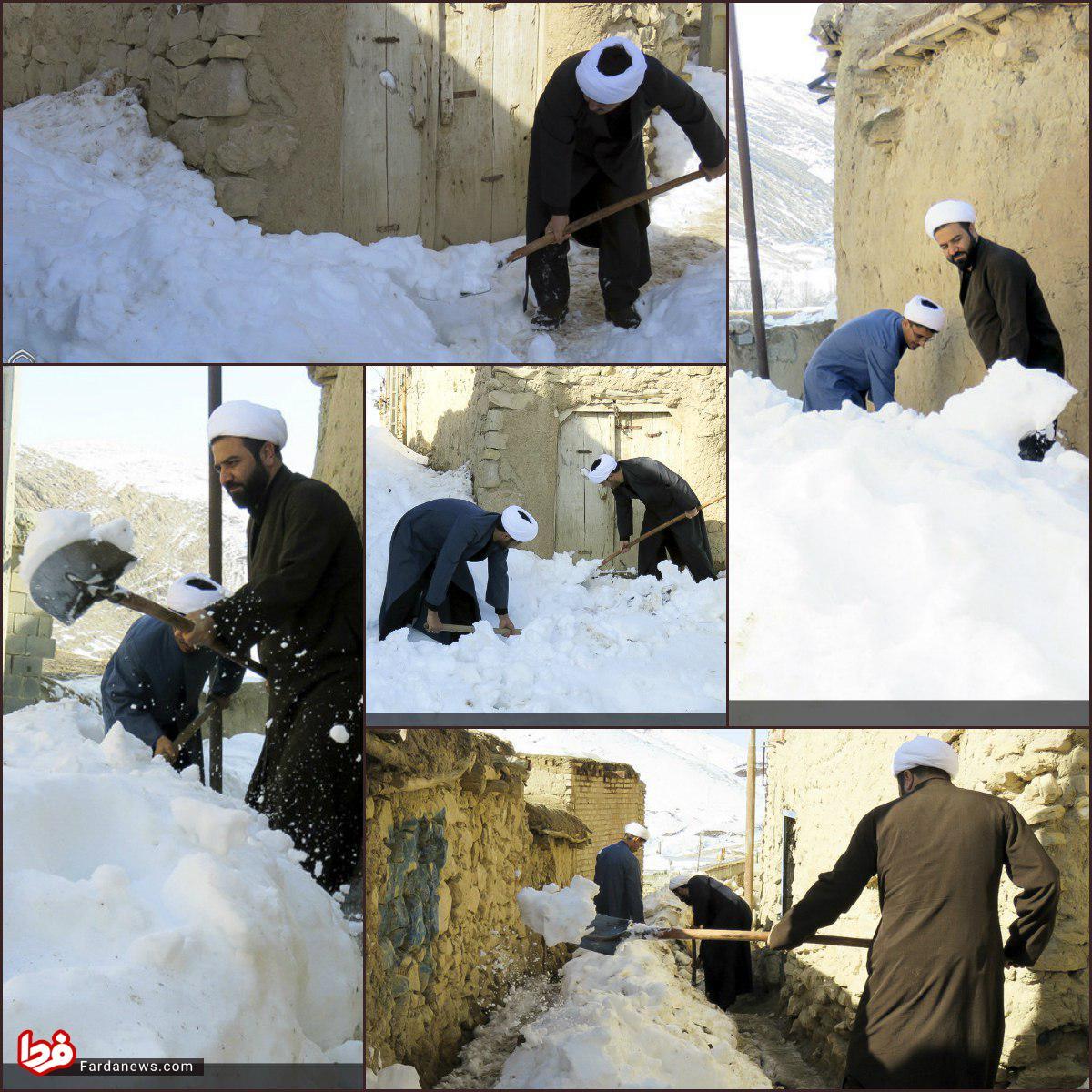 برف روبی طلاب در روستاها +عکس
