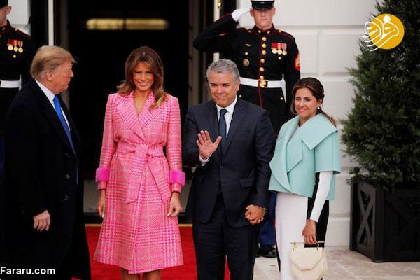 استقبال ترامپ و ملانیا از «ایوان دوکه مارکز» +عکس