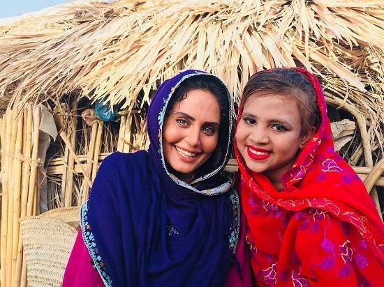 الناز شاکردوست و دختر بلوچستانی+عکس