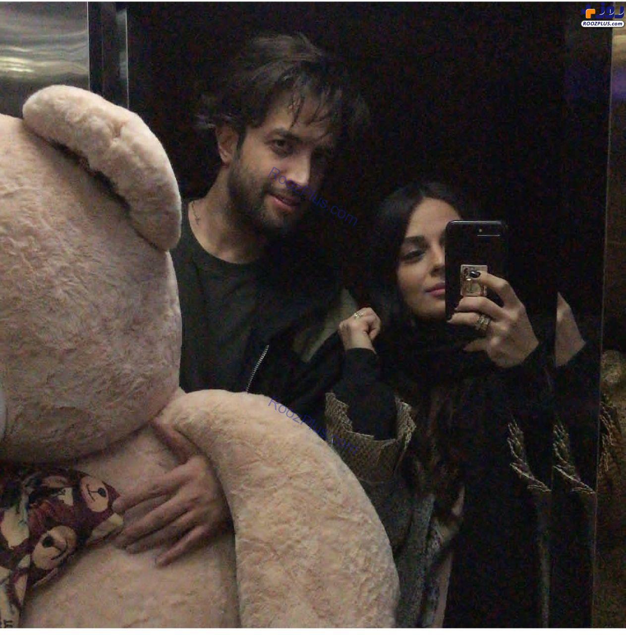 بنیامین بهادری و همسرش در ولنتاین+عکس