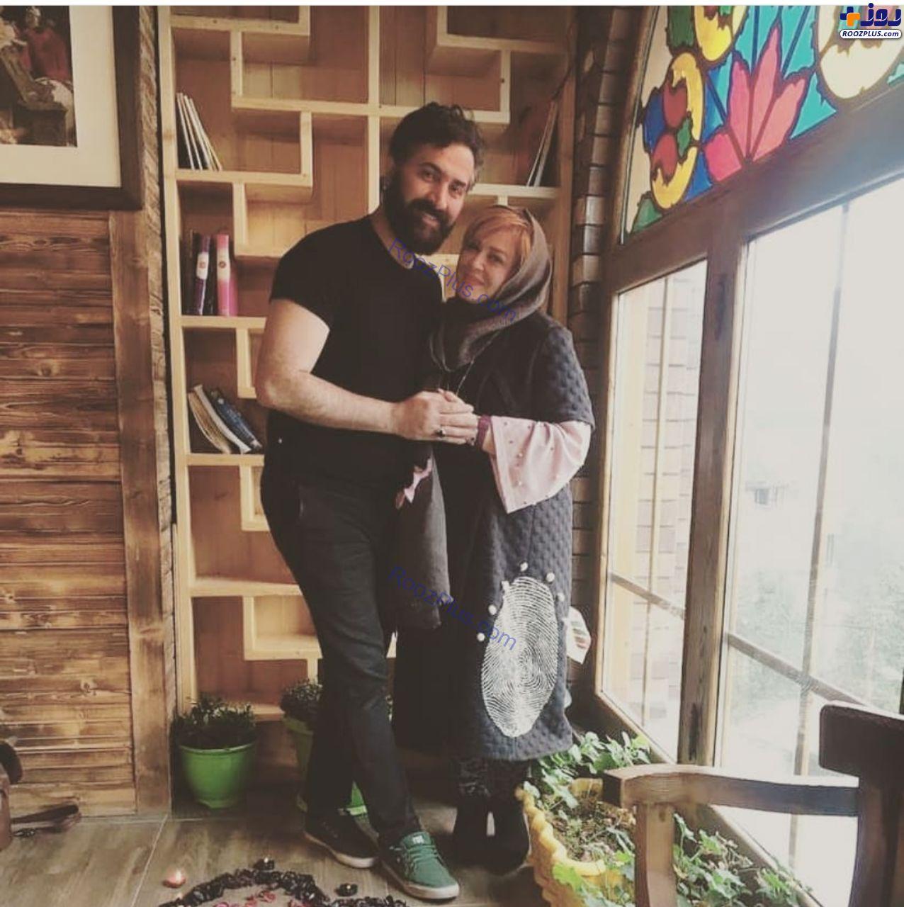 ژست عاشقانه بهاره رهنما و همسرش در ولنتاین+عکس