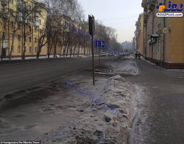 بارش برف سیاه در روسیه+عکس