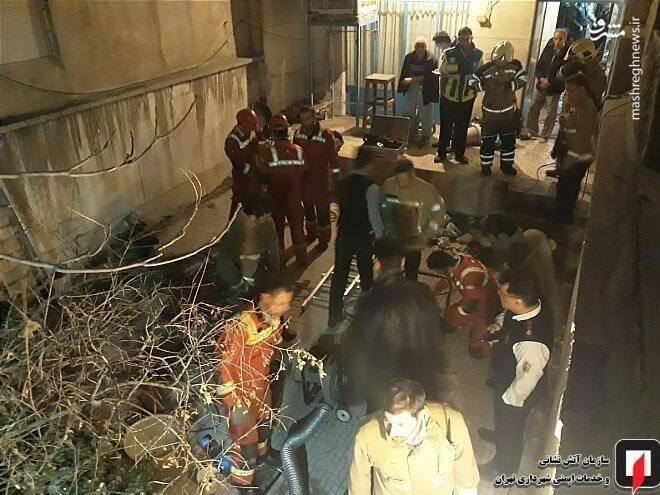 سقوط مرگبار زن مسن در چاه ۱۵ متری +تصاویر