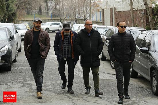 حضور هنرمندان در خانه مرحوم خشایار الوند +عکس