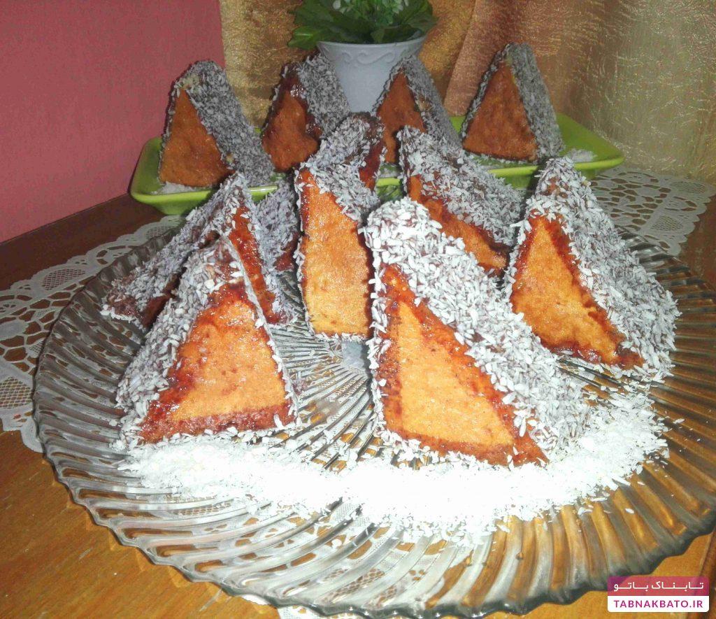 کیک مثلثلی به روش ترکیهای