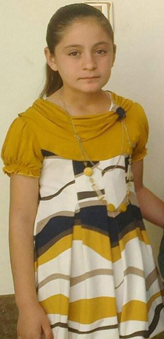 اسارت دردناک دختر ۱۰ ساله توسط داعشیها+عکس