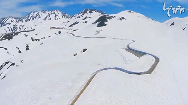 تصاویر جالب از برفیترین جاده جهان