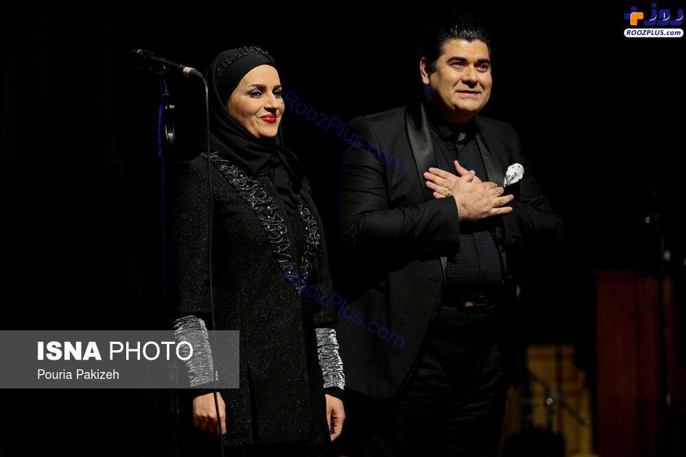 سالار عقيلي و همسرش در كنسرت همدان +عكس