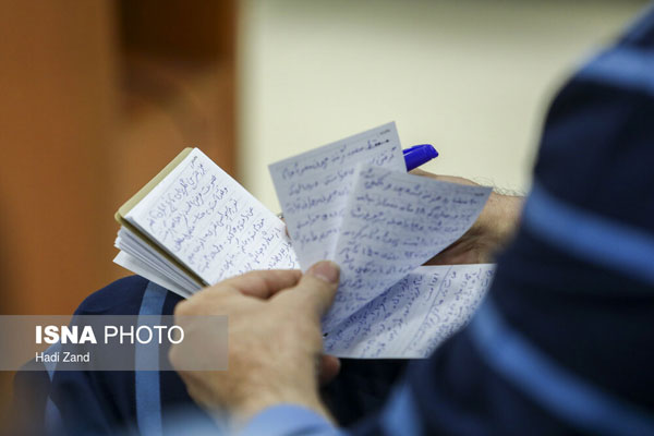 دستنوشتههای حسین هدایتی در دادگاه +عکس