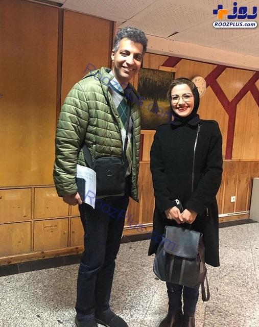 ملیکا زارعی و عادل فردوسی پور در سازمان صداوسیما+عکس