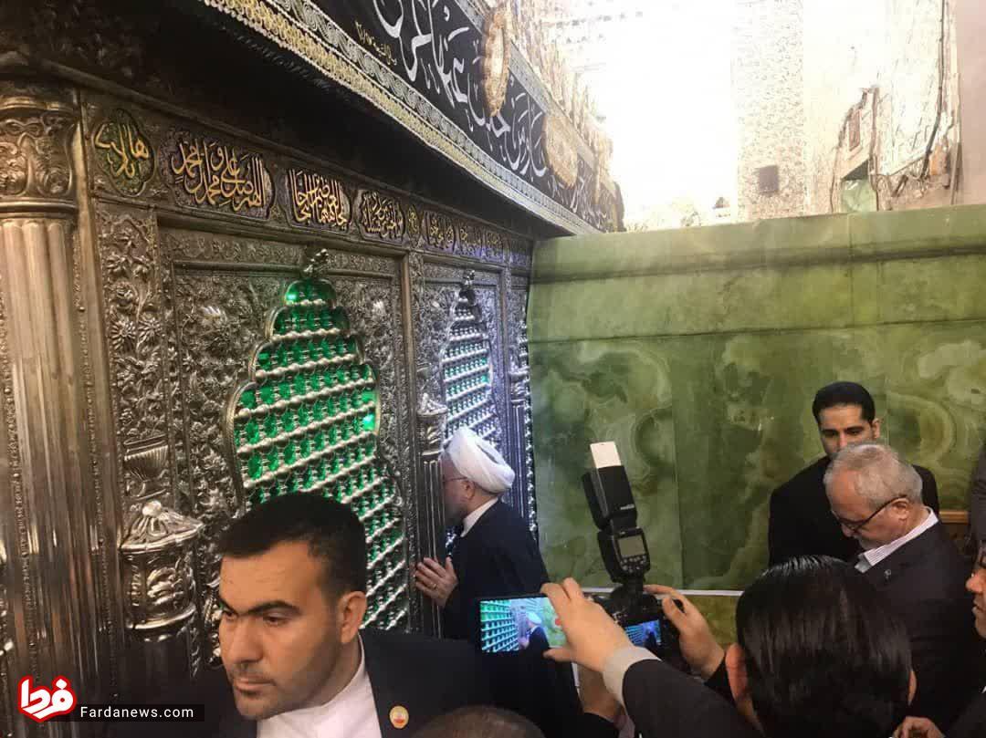 روحانی در حرمین شریفین کاظمین (ع) +عکس