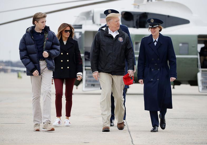 قد کشیدن عجیب پسر کوچک ترامپ خبرساز شد +تصاویر