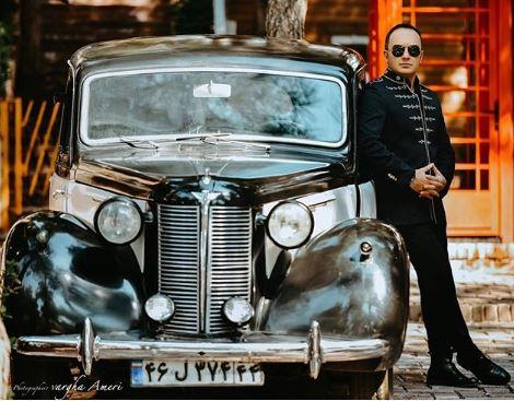 عکس کلاسیک مجری مشهور و ممنوع الکار تلویزیون