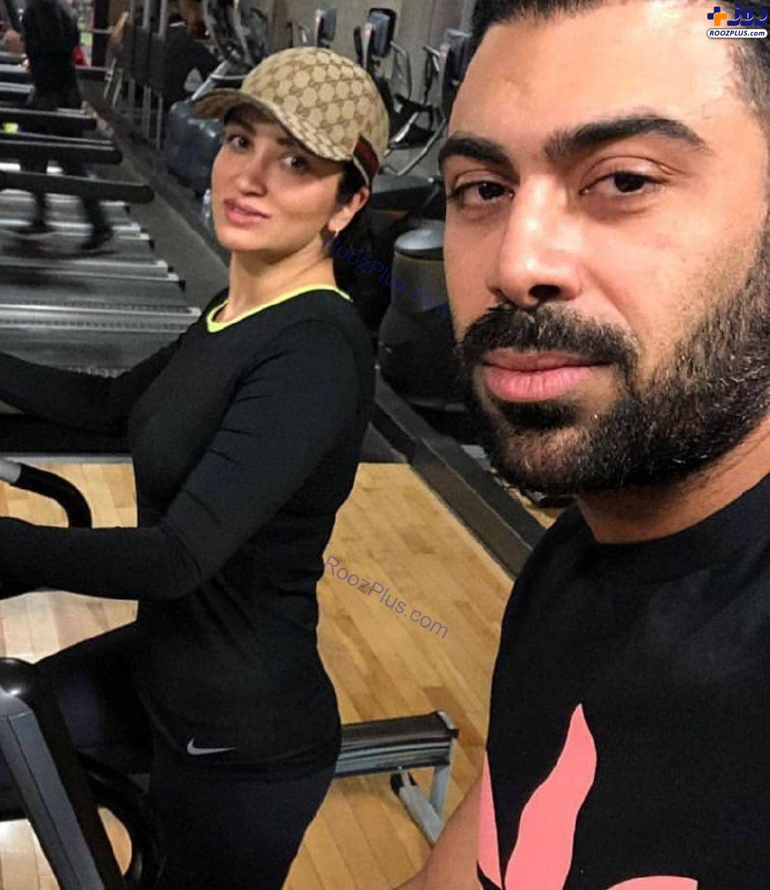 روناک یونسی و همسرش در باشگاه+عکس