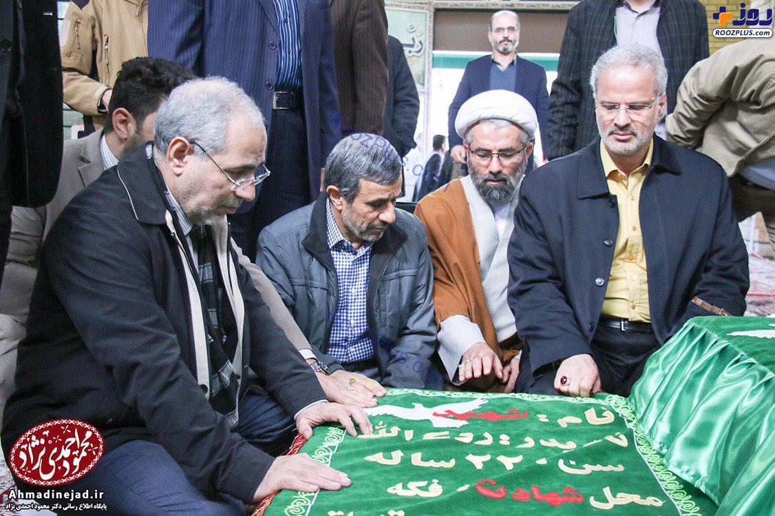 حضور احمدی نژاد در مناطق زلزله زده استان کرمانشاه +عکس