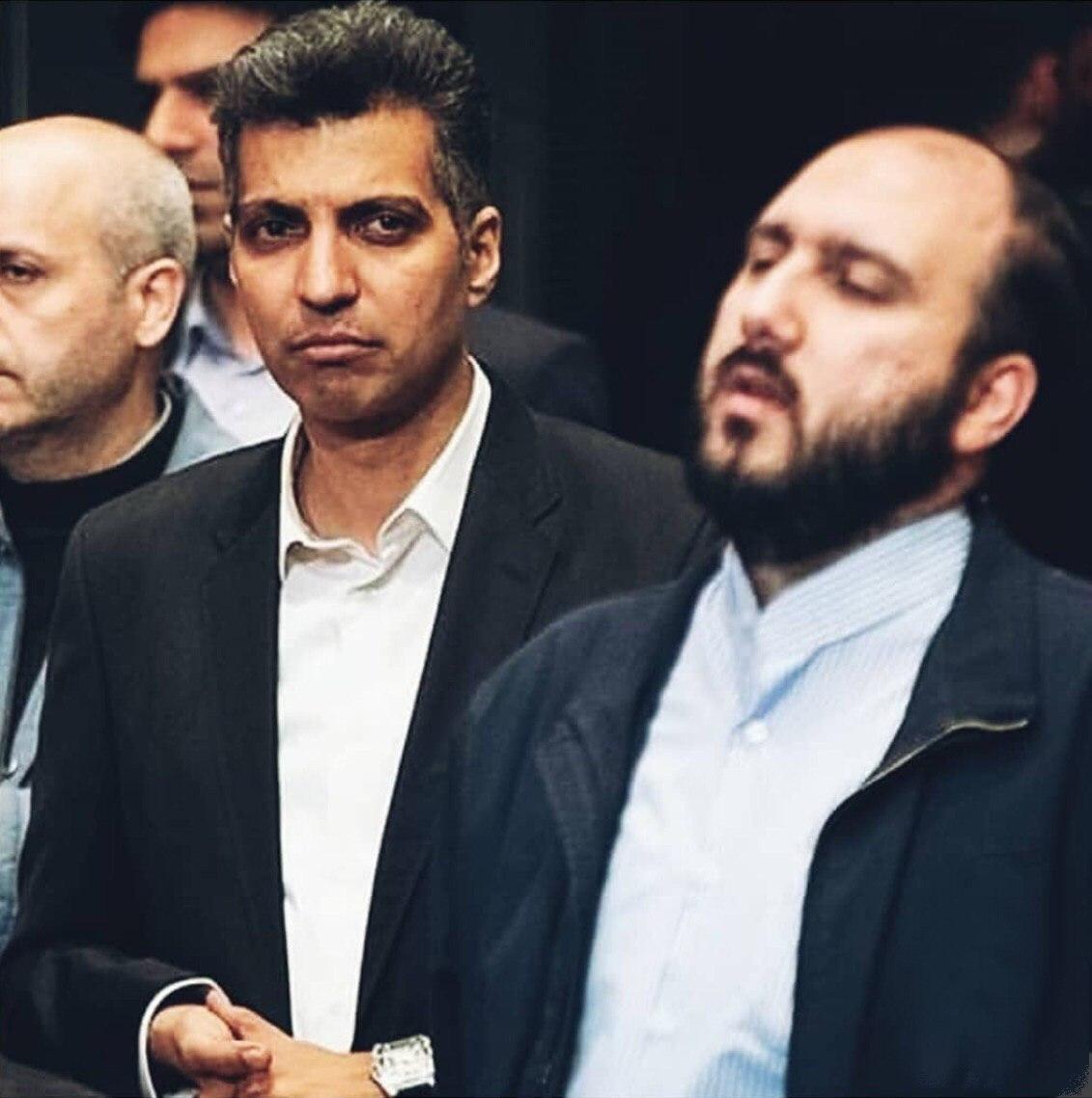 عادل فردوسی پور و علی فروغی در حاشیه جشنواره جام جم+ عکس