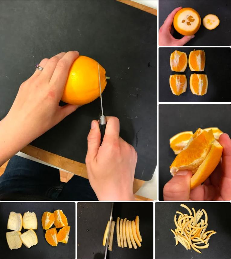 پوست پرتقال شکلاتی