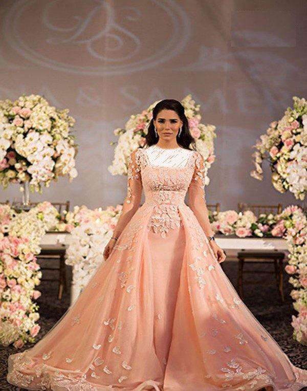 لباس عروس و لباس نامزدی زیبای عروس مشهور لبنانی