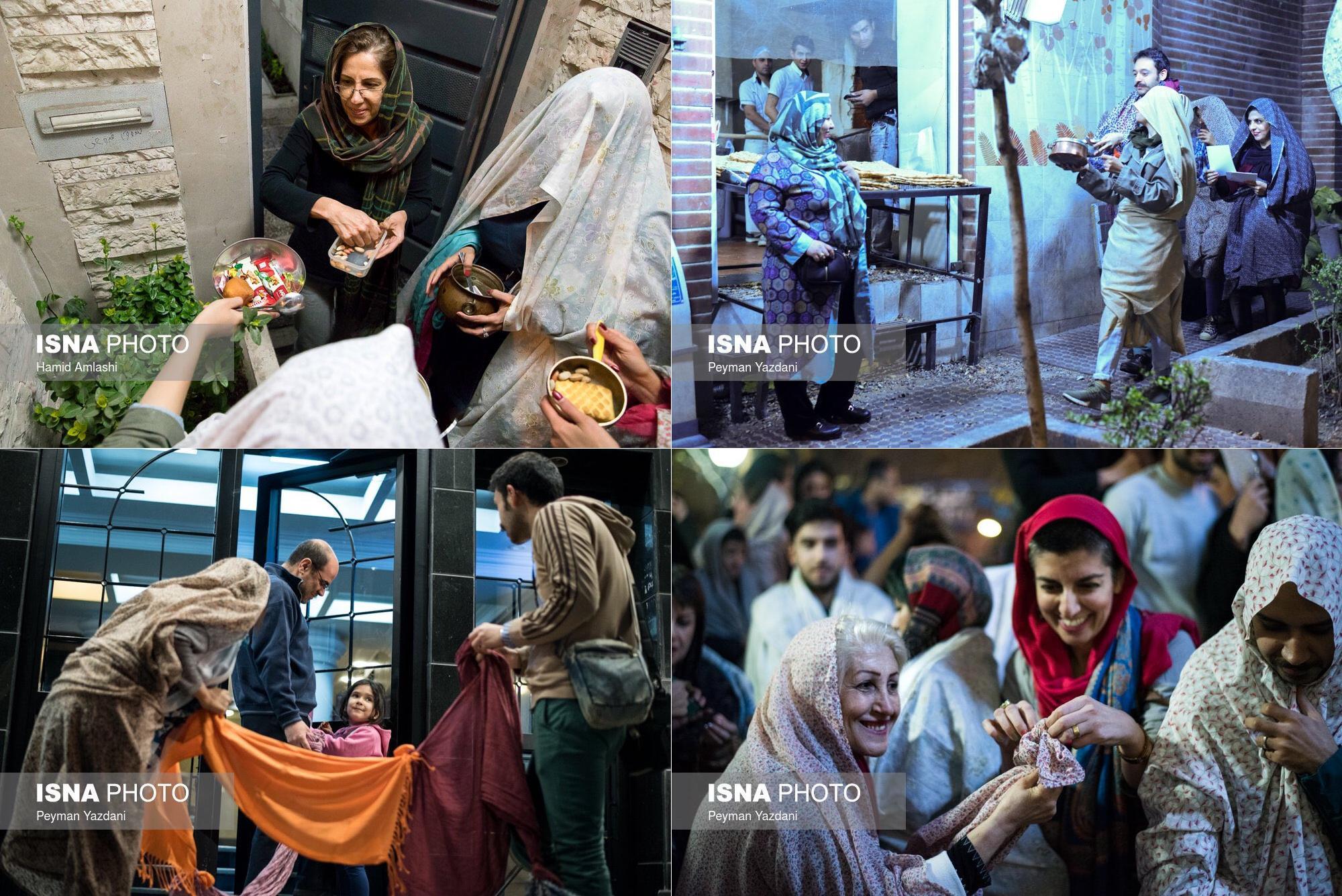 مراسم قاشق زنی در تهران+ عکس