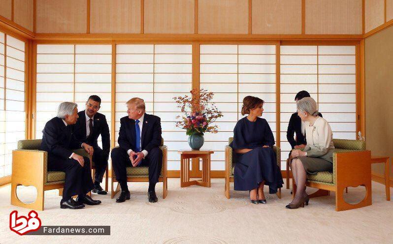 تصویری متفاوت از ملاقات امپراتور ژاپن با ترامپ