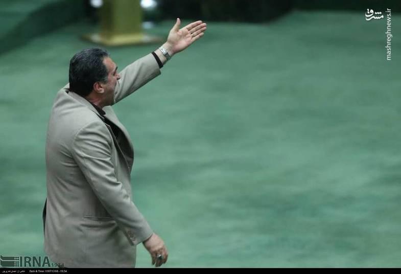 رفتار ناپسند مطهری در مجلس +عکس