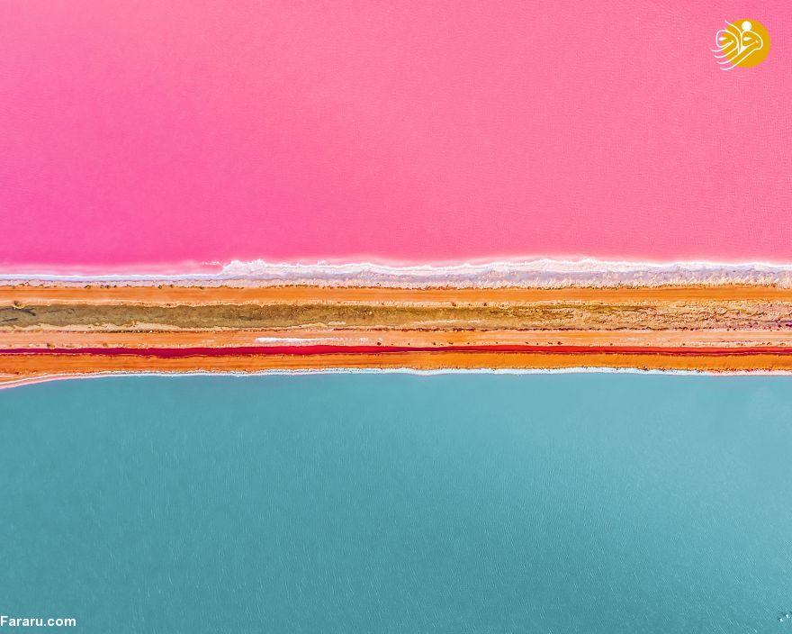 دریاچه صورتی را ببینید + عکس