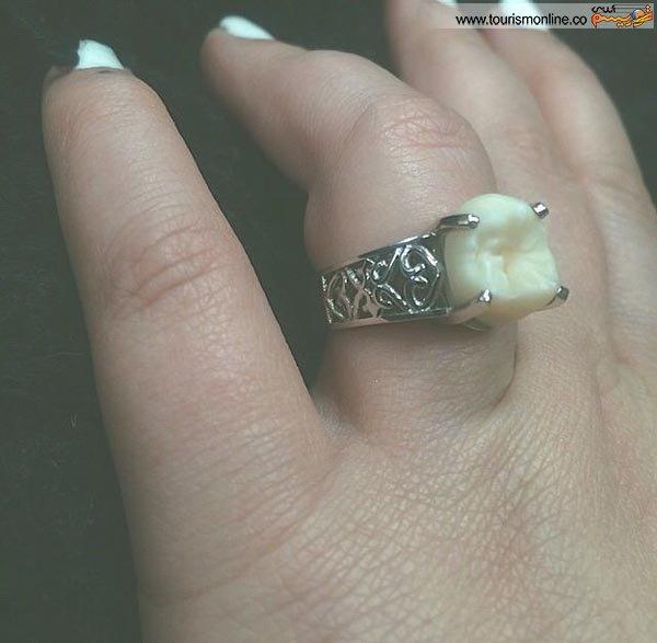 عجیبترین حلقه ازدواج دنیــا در دستان این عروس! +عکس