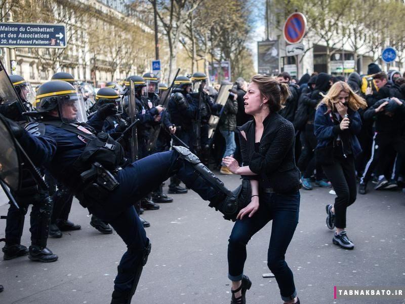 کیهان:   سلبریتیهای بیسواد چرا در برابر برخورد پلیس فرانسه با یک ایرانی ساکتند؟