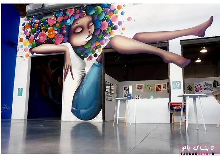 نقاشی گرافیکی زنان در سطح شهر