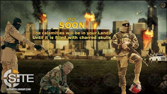 داعش در حال زدن گردن ترامپ +تصاویر