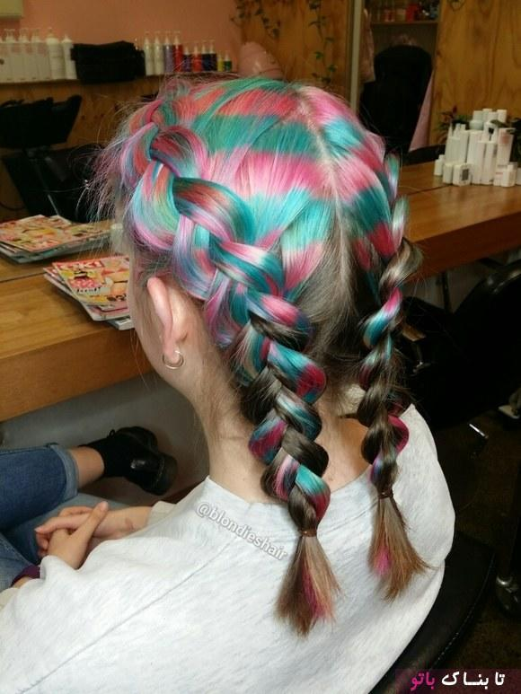 رنگ موهای عجیب با الهام از دامن اسکاتلندی