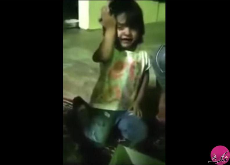واکنش عجیب کودک به عکس روی کیک تولدش