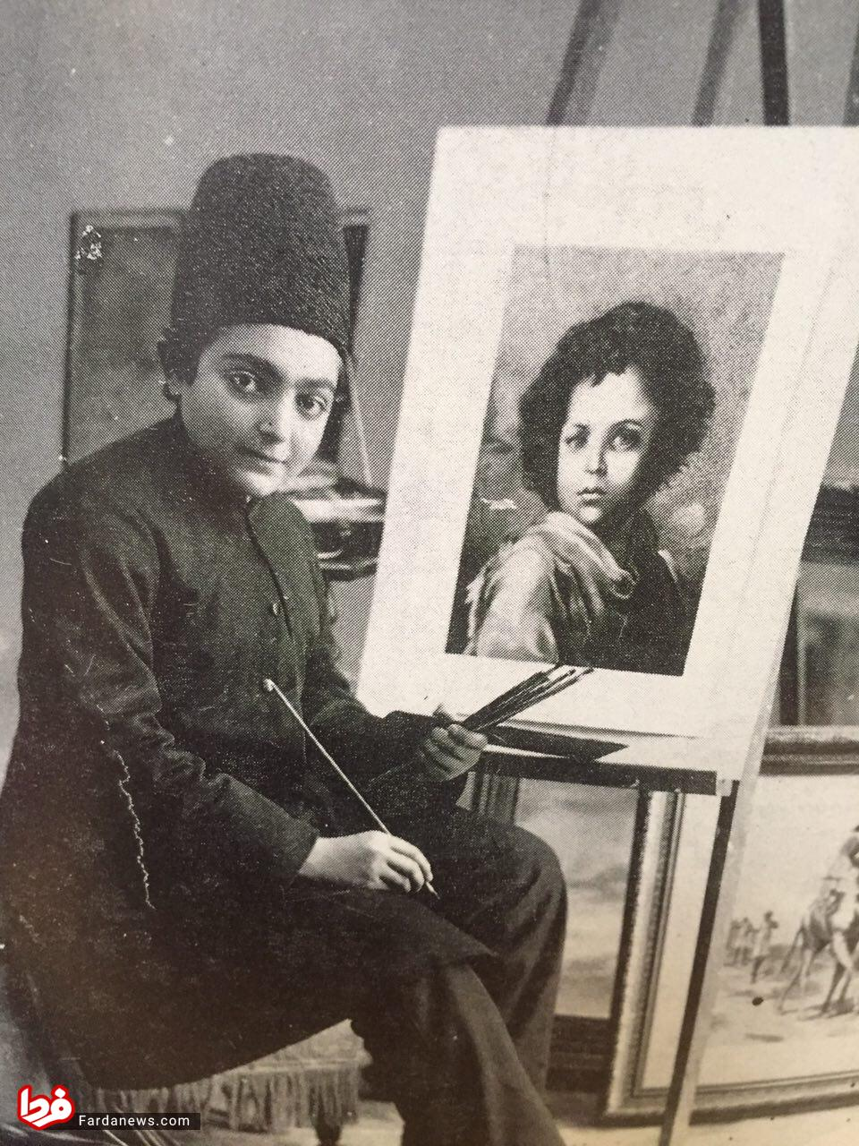 مهارت نوه ناصرالدین شاه در نقاشی +عکس