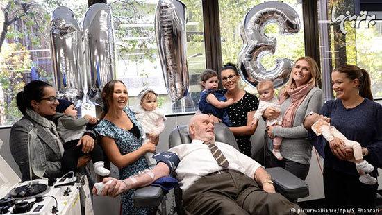 پیرمرد ۸۱ ساله با رکورد ۱۱۷۳ بار اهدای خون+عکس