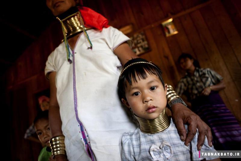 زنان زرافه ای قبیله کایان