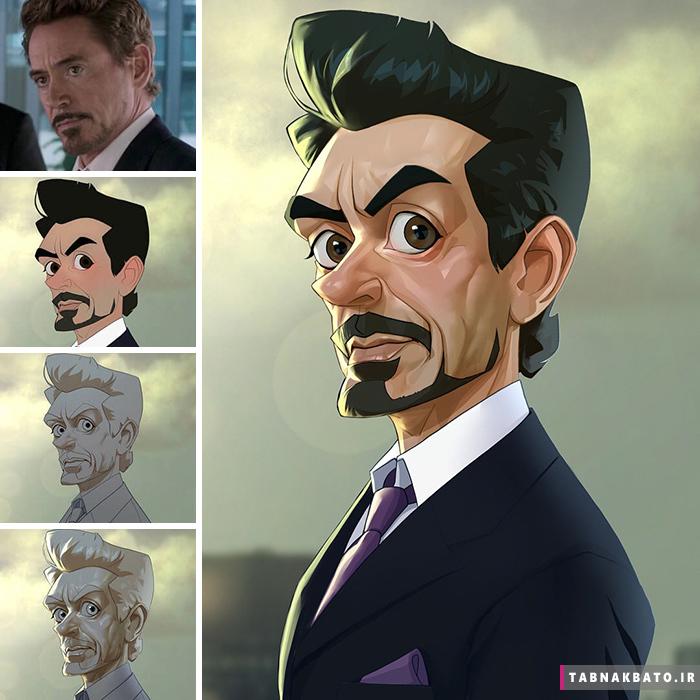 تبدیل قهرمانان فیلم های سینمایی به شخصیت های کارتونی