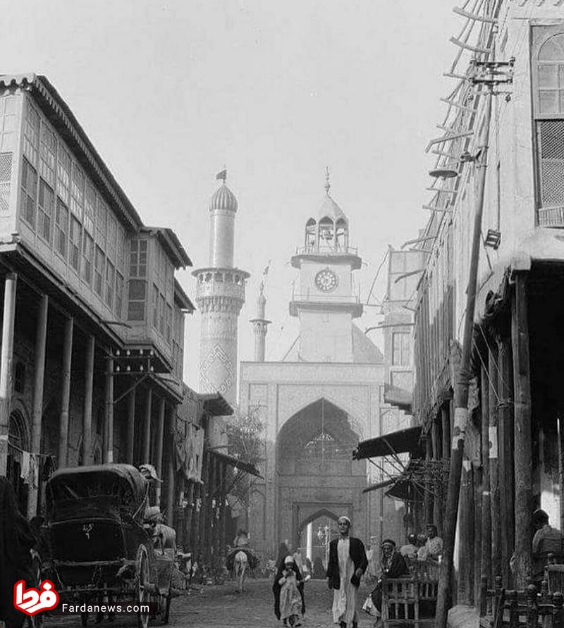 باب القبله حرم حضرت عباس(ع) در ۸۶ سال قبل +عکس