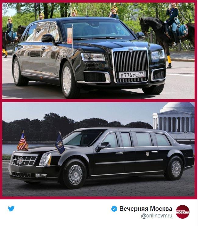 خودروی تشریفات پوتین قویتر است یا ترامپ؟ + عکس