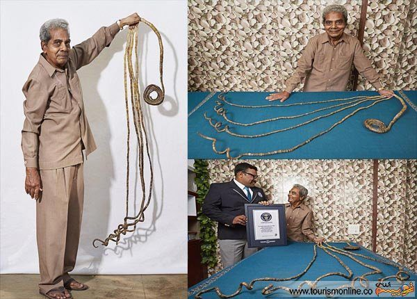 درد و دل مرد ناخن بلند پس از ۶۲ سال لجبازی+عکس