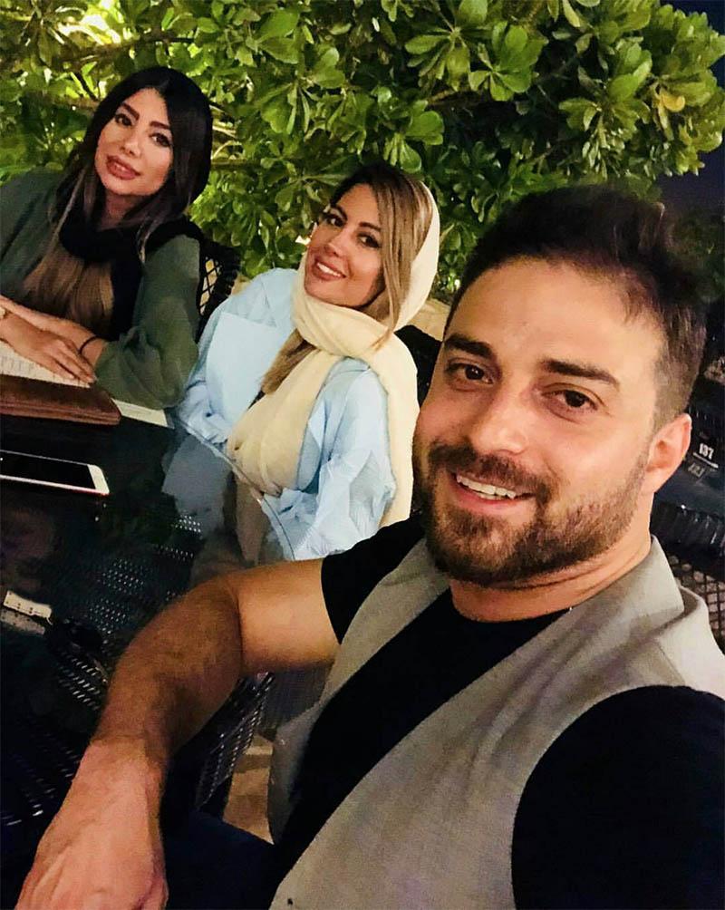 بابک جهانبخش و همسرش در یک کافی شاپ + عکس