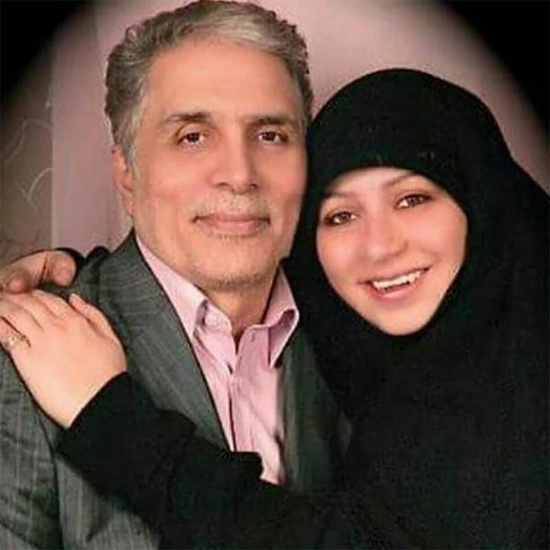 عکس دیده نشده از مرحوم قاسم افشار و دخترش