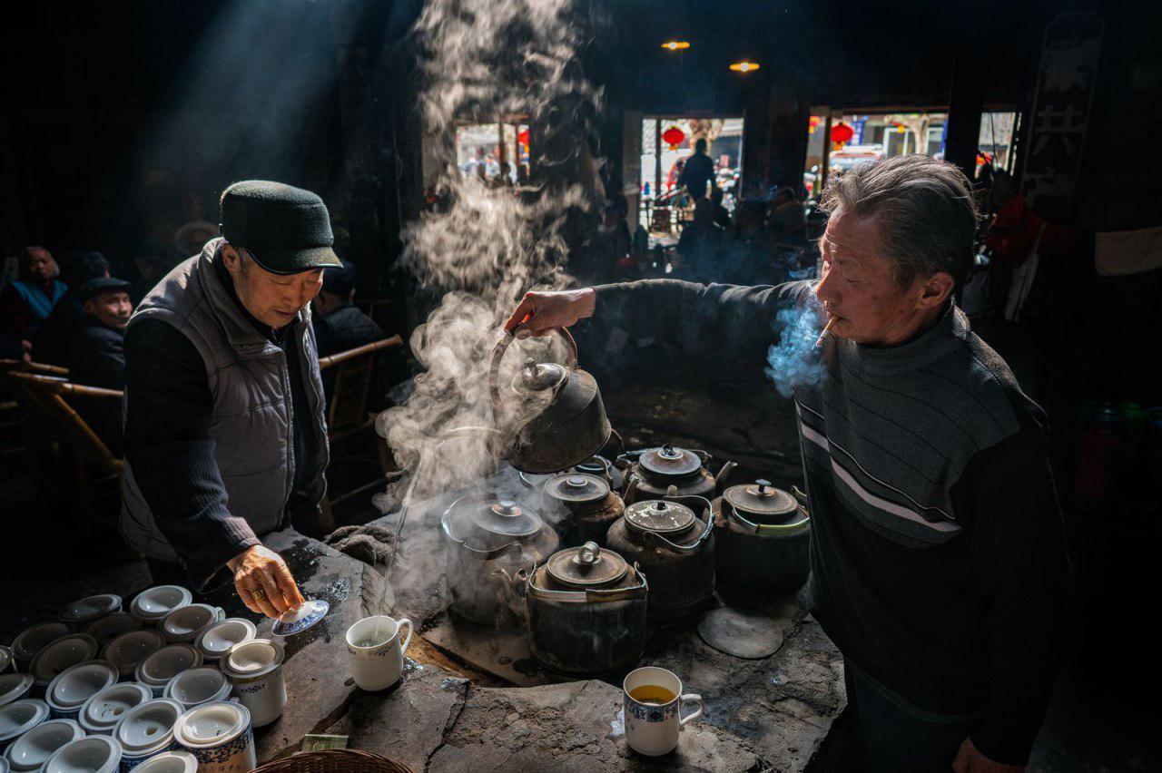 چایخانه قدیمی در چین +عکس