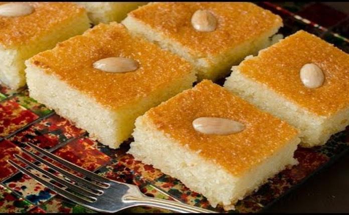 طرز تهیه دسر مصری باسبوسا مخصوص ماه رمضان