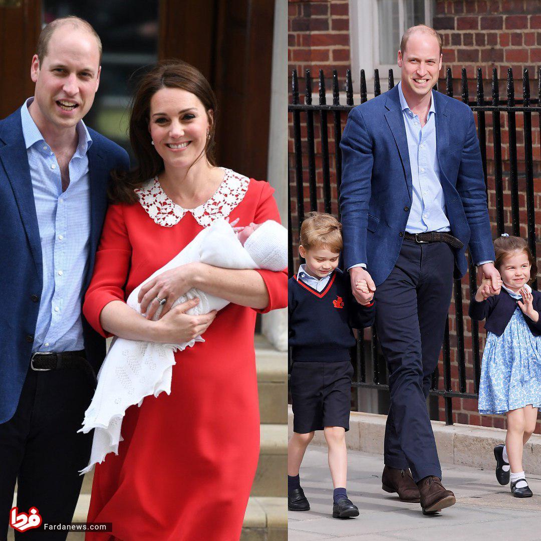سومین فرزند شاهزاده ویلیام بهدنیا آمد +عکس