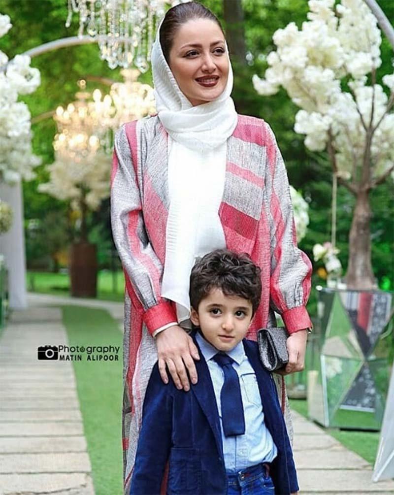 تیپ شیلا خداداد و پسرش در یک مهمانی + عکس